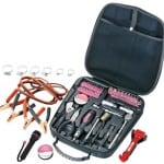 Apollo Precision Tools DT0101P Travel and Automotive Tool Kit, Pink, 64-Piece