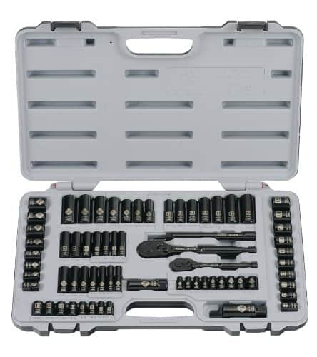 Stanley 92-824 Black Chrome and Laser Etched 69-Piece Socket Set